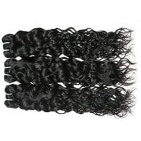 "Allove 7A Brazilian Virgin Hair Water Wave 3 Bundles Wet and Wavy Virgin Brazilian Human Hair Hair Extensions, 8""8""8"""