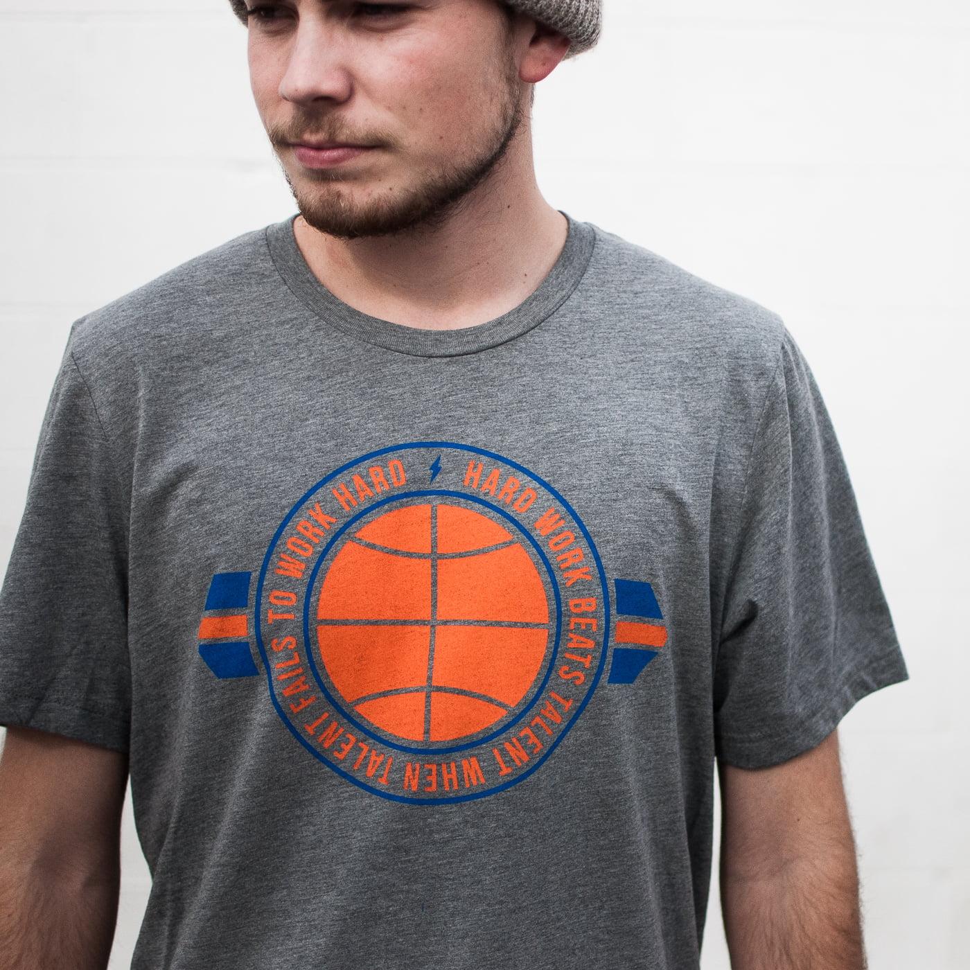 Unisex Men and Women KD Hard Work Tee Shirt OKC Oklahoma City Adult Grey Triblend by Shop Good by Shop Good