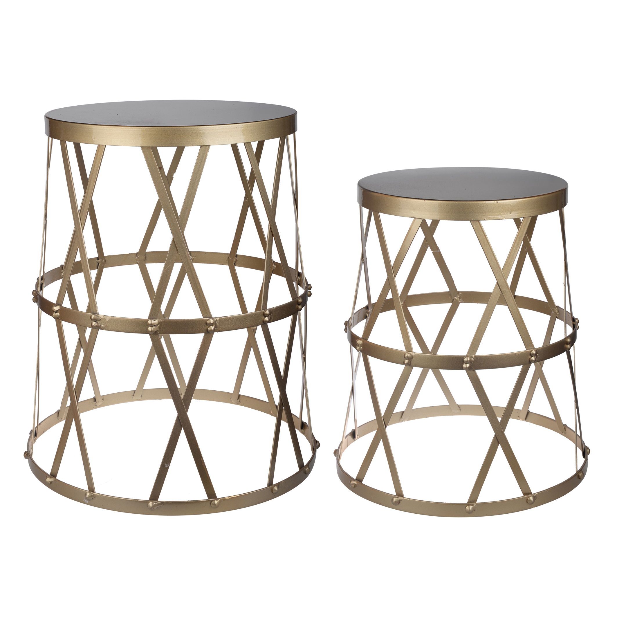 A&B Home Urban Vogue Accent Tables, Gold, Set of 2