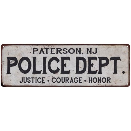 PATERSON, NJ POLICE DEPT. Home Decor Metal Sign Gift 6x18 206180012167](West Paterson Nj)