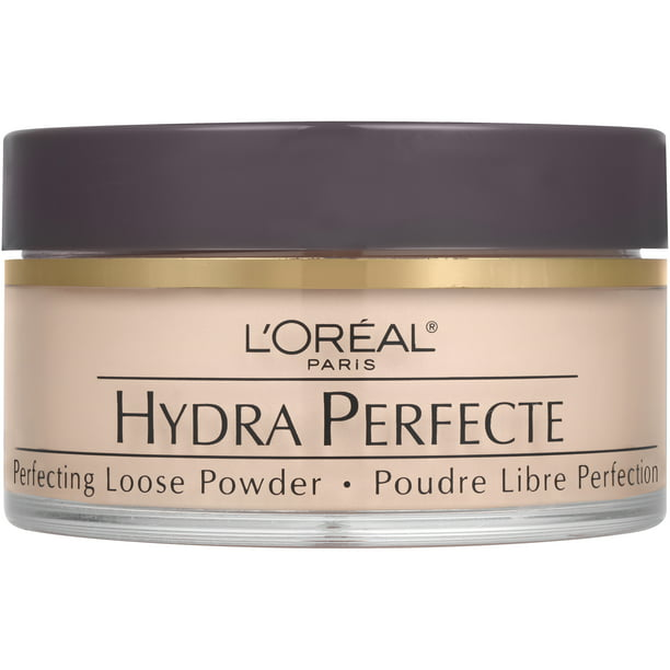 L'Oreal Paris Hydra Perfecte Perfecting Loose Face Powder, Translucent, 0.5 oz.