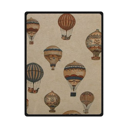 CADecor Hot Air Balloon On The Sky Fleece Blanket Throws 58x80 inches