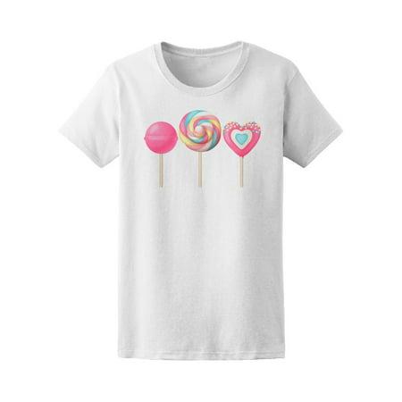 Sweet Realistic Lollipops Tee Women's -Image by Shutterstock
