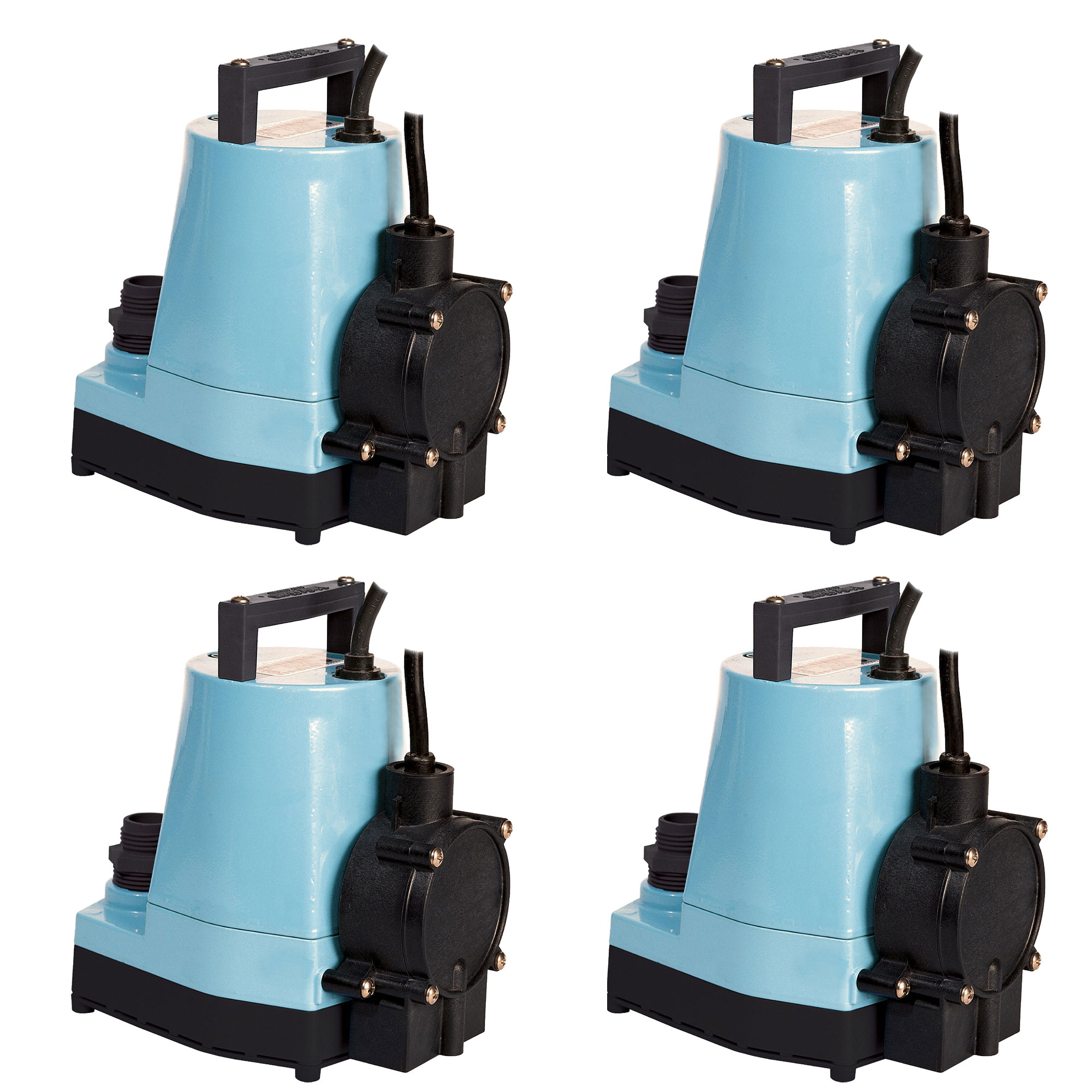 Little Giant 1/6 HP 1200 GPH Water Wizard Submersible Utility Pump (4 Pack)