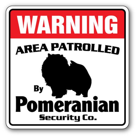 Guard Dog Gloves (POMERANIAN Security Sign Area Patrolled pet dog gag funny warning guard breeder)