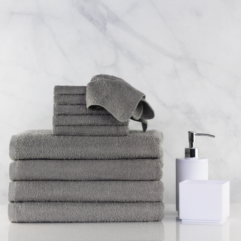 Bath Towel and Washcloth Cotton Bundle Set - 10 Piece Set