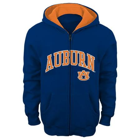 Auburn Tigers Team Color Ncaa Full Zip Hooded Sweatshirt