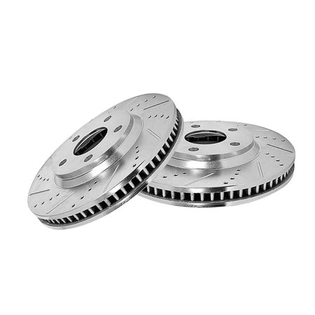 Yosoo Race Plus Brake Pads Front & Rear Set for Acura Integra Type-R 97-01 Front Rear Drilled Slotted Rotor
