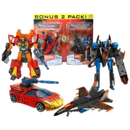 Hasbro Year 2007 Transformers Universe Series 2 Pack Deluxe Class 6 Inch Tall Robot Action Figure Set - OPPOSITE ATTACK - Autobo