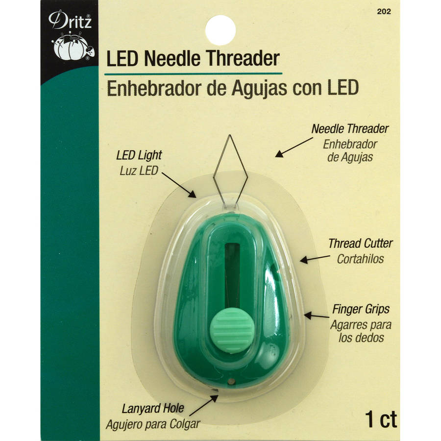 LED Lighted Needle Threader, Green