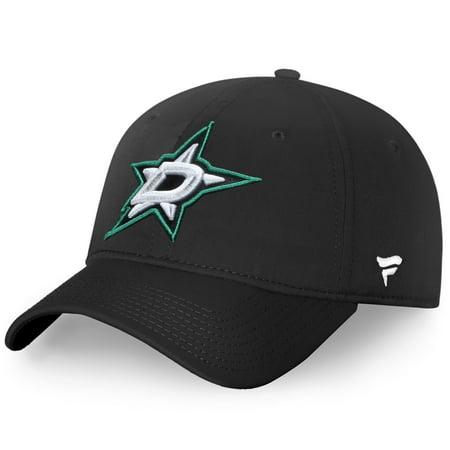 Dallas Stars Fanatics Branded Elevated Core Fundamental Adjustable Hat - Black - (Dallas Stars Hat)