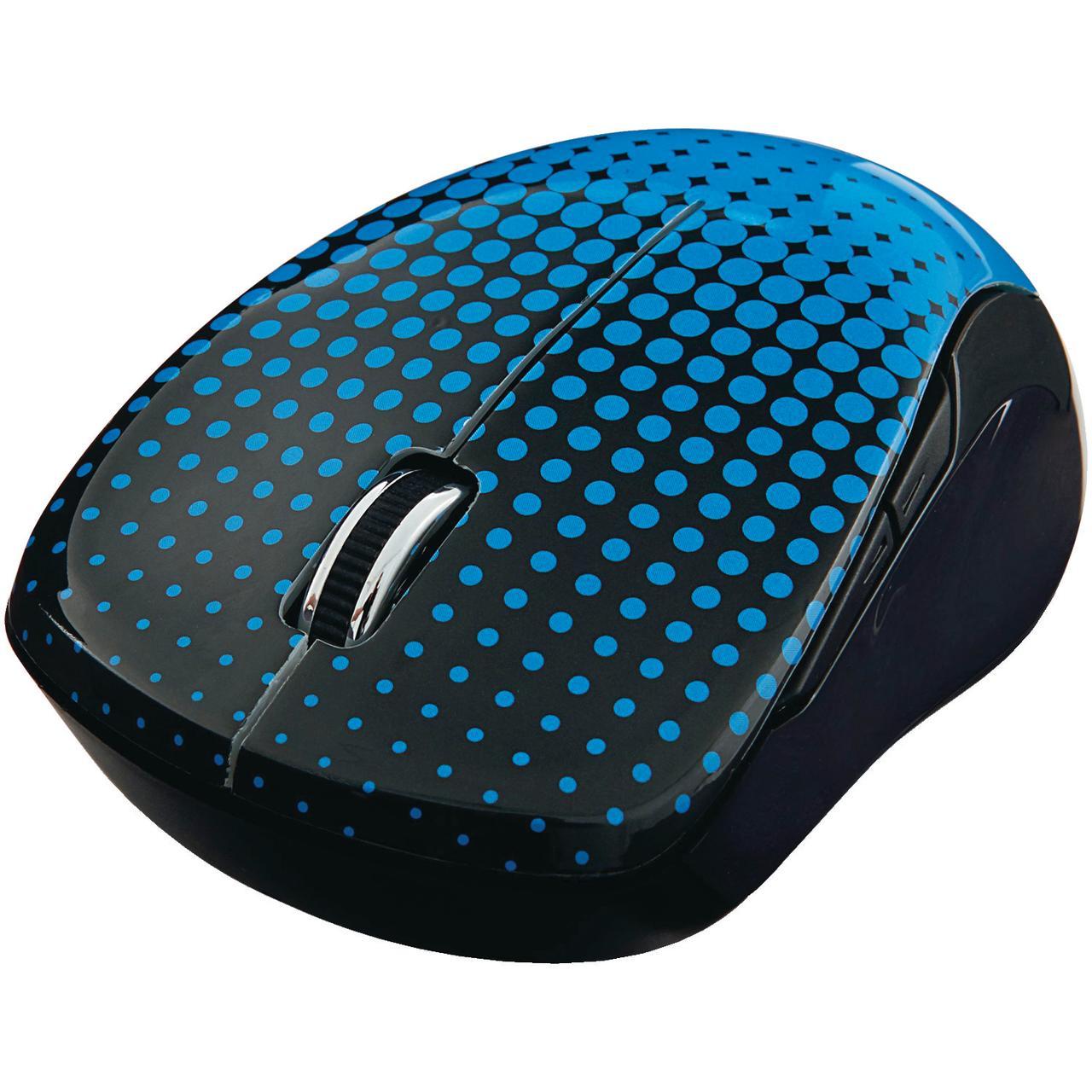 Verbatim 99747 Wireless Notebook Multi-Trac Blue LED Mouse (Dot Pattern; Blue)
