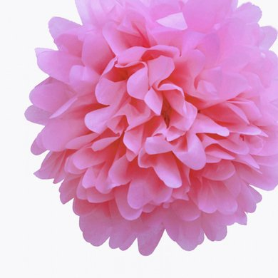 Quasimoon EZ-FLUFF 16'' Pink Passion Tissue Paper Pom Poms Flowers Balls, Decorations (4 Pack) by PaperLanternStore ()