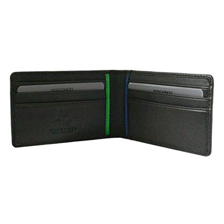 Visconti bd11 leather black business card holder wallet passcase id visconti bd11 leather black business card holder wallet passcase id wallet reheart Choice Image