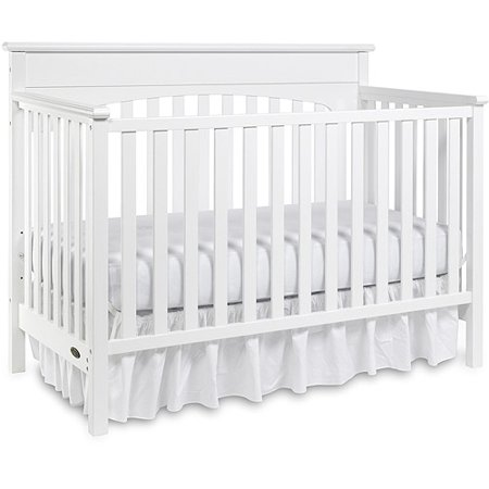 Graco Lauren 4 In 1 Convertible Fixed Side Clic Crib White