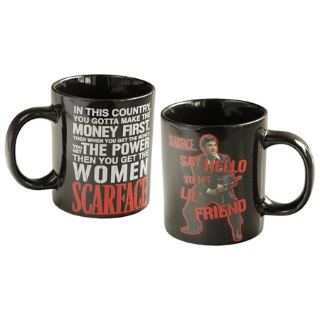 Universal Studios Scarface Movie Say Hello To My Lil' Friend Ceramic 14 Ounce Coffee Mug - Universal Studios Shop