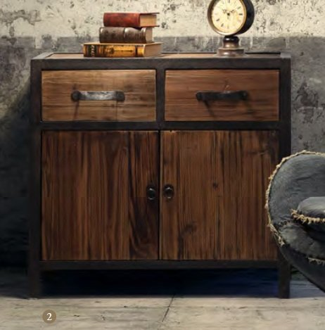 Fort Mason Cabinet Distressed Natural