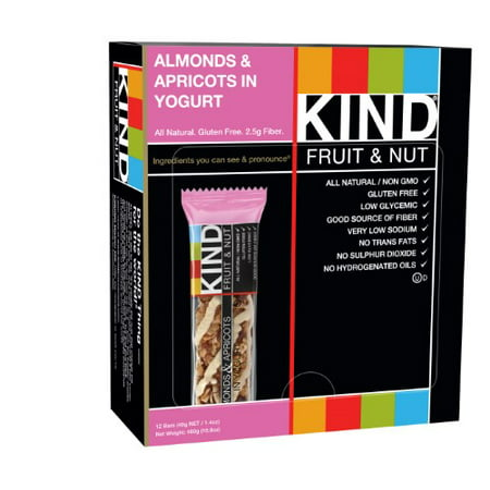 KIND Fruit & Nut Snack Bar, Almonds & Apricots in Yogurt, 1.4 Oz