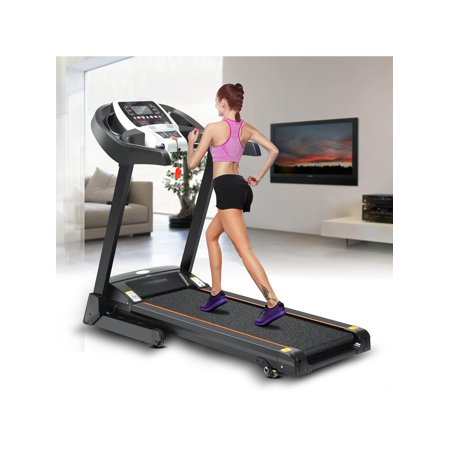 Low noise bluetooth wifi+12 running program Electric Folding Treadmill With Incline Heart Rate Sensor/App control BYE
