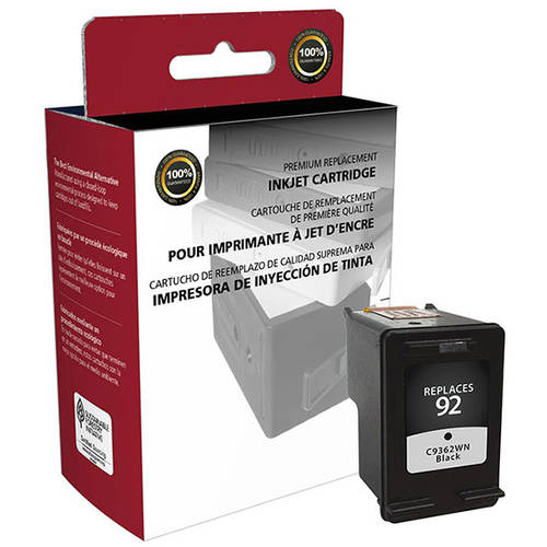 CIG Remanufactured Black Ink Cartridge (Alternative for HP C9362WN 92) (175 Yield)