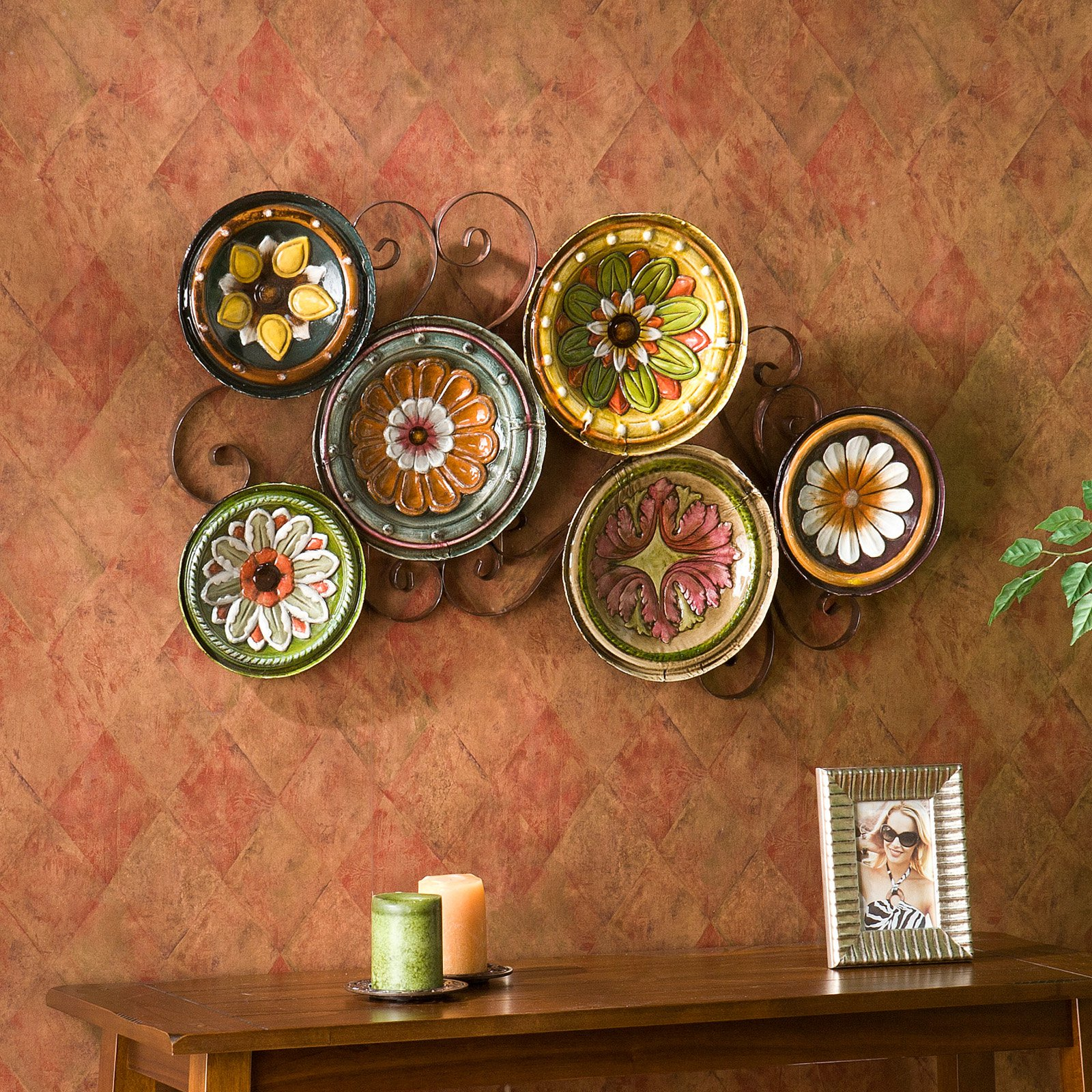 prodigious Mexican Style Wall Decor Part - 5: Southern Enterprises Milan Italian Plates Wall Art 2.25 x 22.50 x 36.75  Inches - Walmart.com