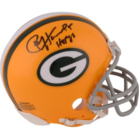 Riddell Collectibles (Paul Hornung Green Bay Packers Autographed Throwback Riddell Mini Helmet with HOF 86 Inscription - Fanatics Authentic)