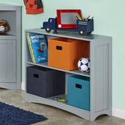 RiverRidge Kids 2-Shelf Horizontal Bookshelf, Gray