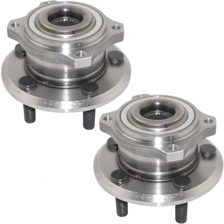 Pair Set Front Wheel Hub Bearing Assemblies Replacement for 05-19 Chrysler 300 07-19 Dodge Charger All Wheel Drive AWD 4779328AB HA590142 513225 Dodge All Wheel Drive