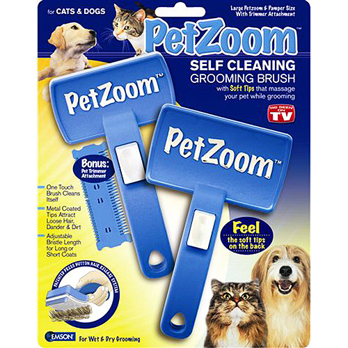 As Seen on TV Pet Zoom Grooming Brush, 2-Pack