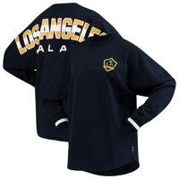 LA Galaxy Fanatics Branded Women's Cuffed Spirit Jersey Long Sleeve T-Shirt- Navy