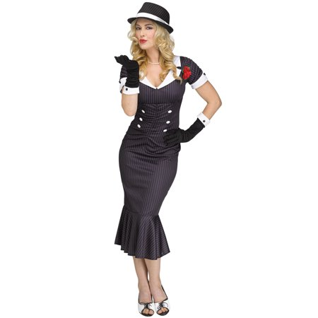 Gangster Gal Adult Costume - Nasty Gal Halloween