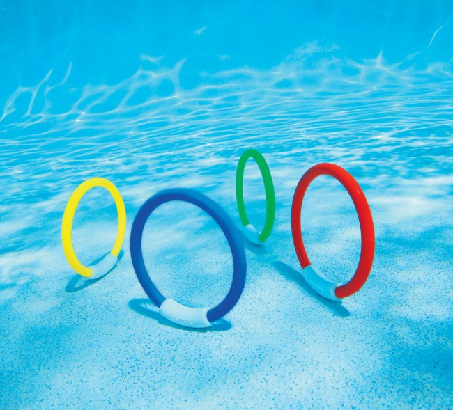 Intex - 55501 Underwater Fun Ring, Includes 4 Rings, 4-Piece