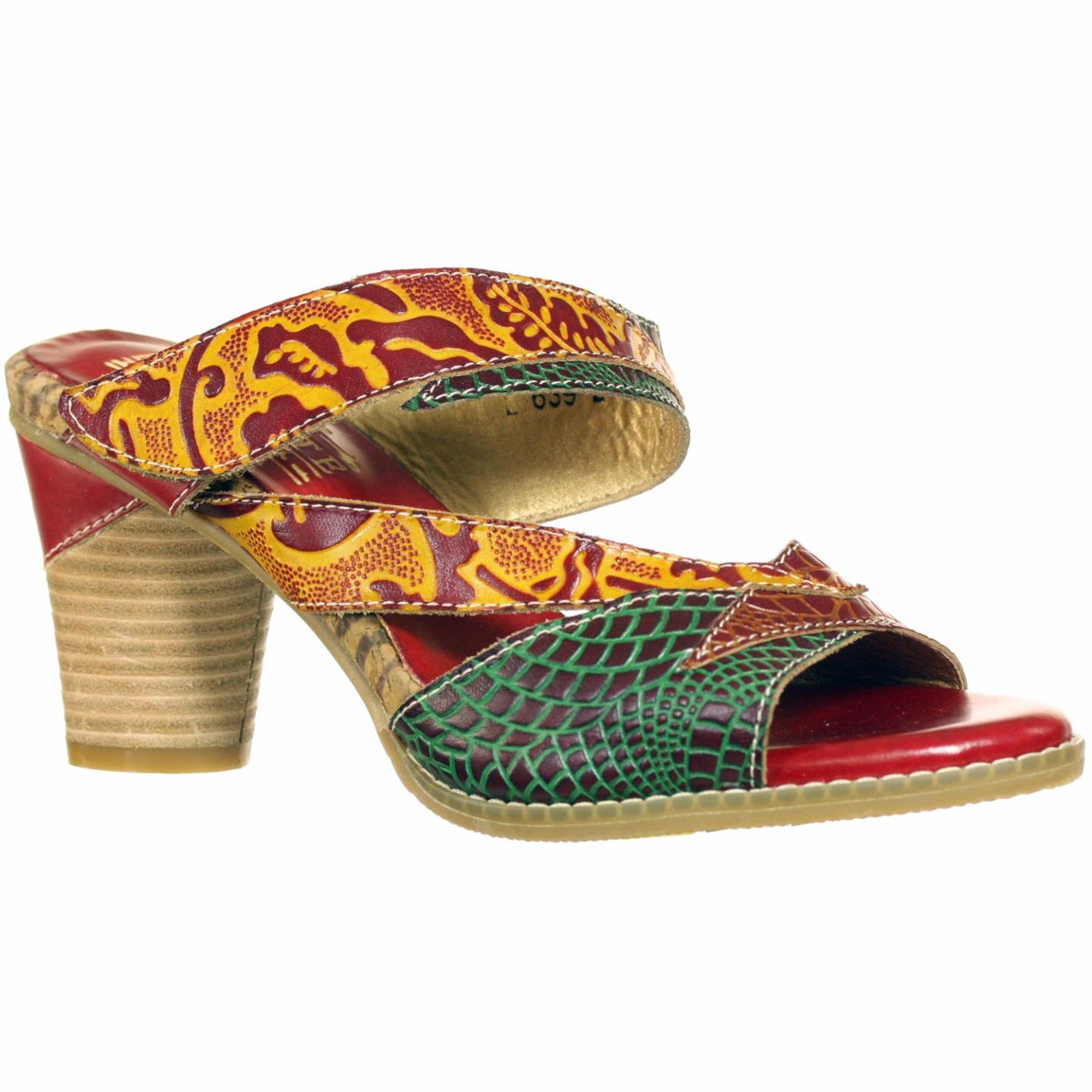 L'Artiste Collection By Spring Step Women's Adilisa Sandal Red Multi EU 37 US 7