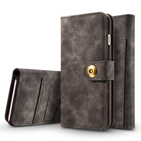 new arrival 06c13 befd8 iPhone 6 Wallet Case, iPhone 6S Case, Allytech PU Leather Purse Case with  credit card slots and Magnetic Detachable Slim Cover for Apple iPhone 6S/  6, ...