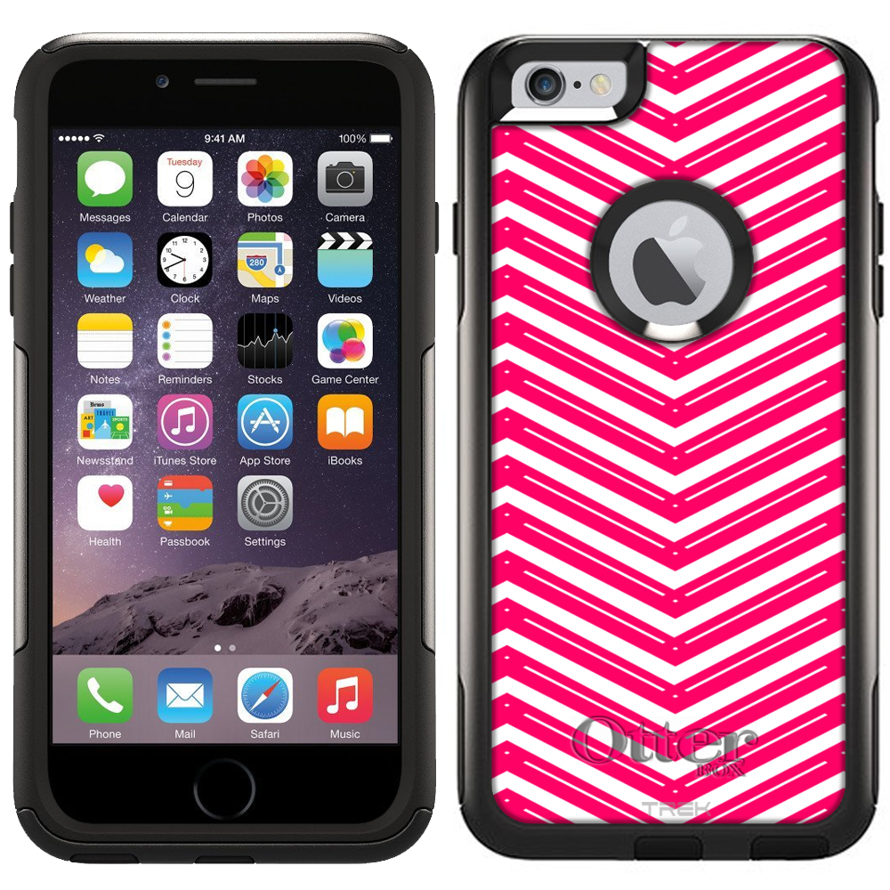 Otterbox Commuter Case for Apple iPhone 6 Plus - Red Wide Style Chevrons White