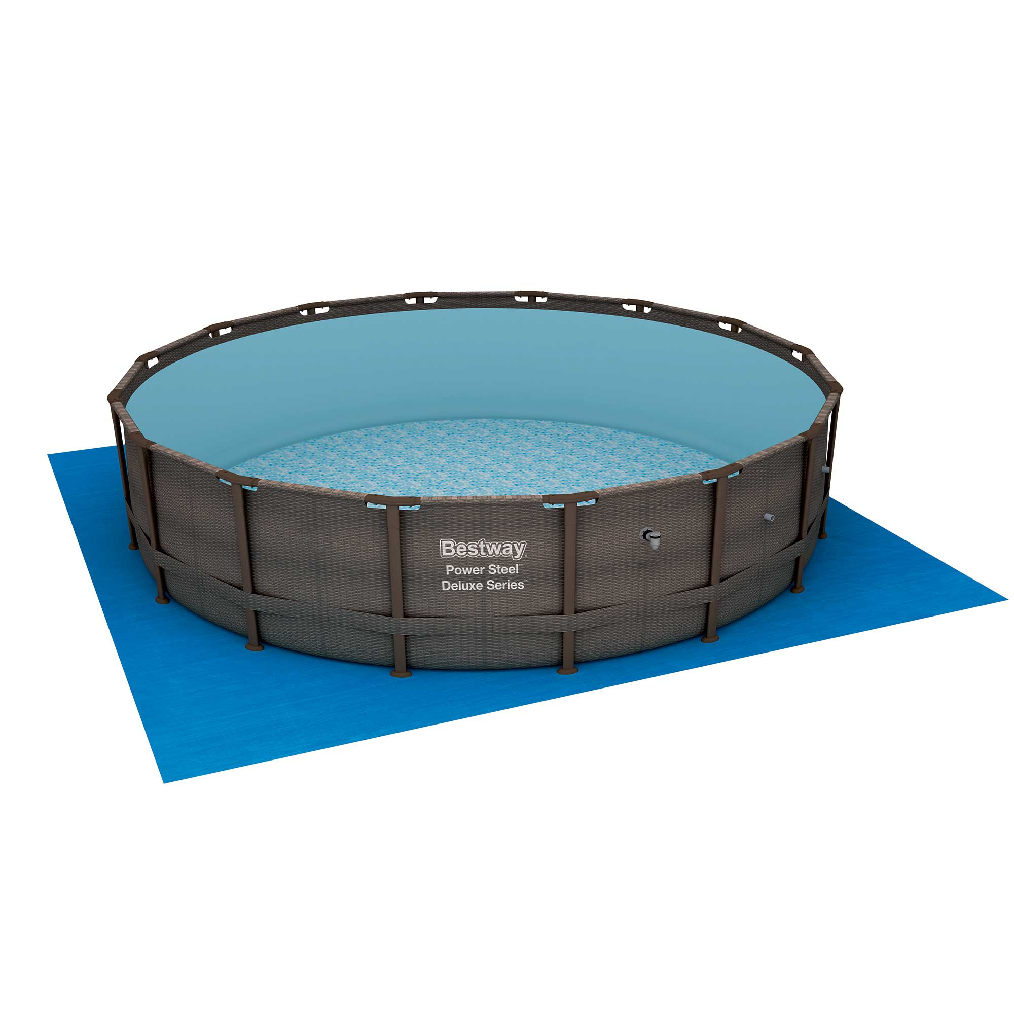 Bestway 14 X 42 Quot Power Steel Frame Above Ground Swimming Pool Set With Pump Walmart Com