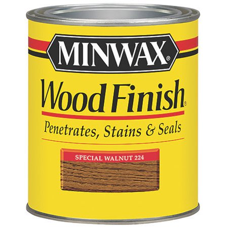 Minwax Wood Finish, 1/2 pt, Special (High Gloss Walnut Finish)