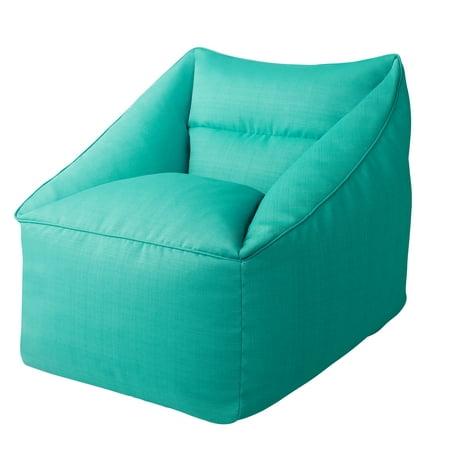 Better Homes & Gardens Dream Bean Patio Bean Bag Chair, Turquoise