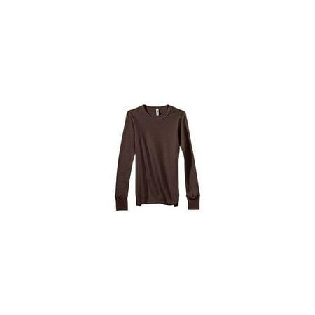 490077d1 Bella Women's Irene Long-Sleeve Thermal T-Shirt, chocolate, Large - image  ...