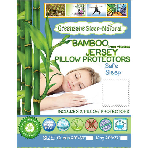 Greenzone Jersey Pillow Protector (Set of 2) by Dreamtex Home