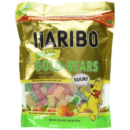 6 PACKS : Haribo Sour Gold Bears 1.6 LB Bag Haribo 5 Lb Bag