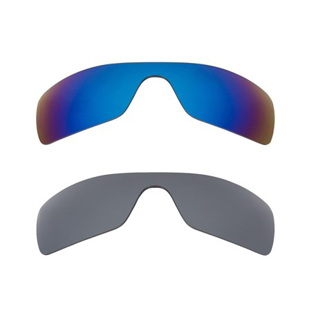 68bba622774 Best SEEK Polarized Replacement Lenses for Oakley BATWOLF Silver Mirror Blue  - Walmart.com