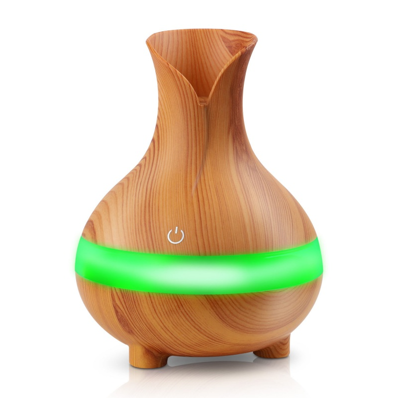 300ML USB Air Humidifier Essential Oil Diffuser Atomizer Ultrasonic Humidifier Wood Grain Aromatherpy Diffuser Mist Maker