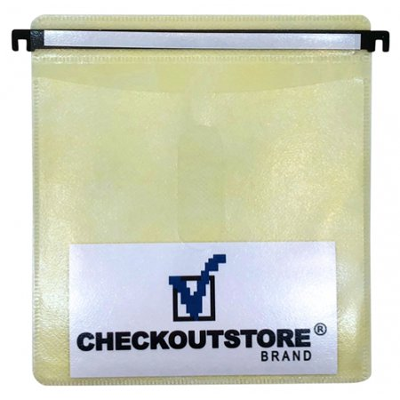 CheckOutStore® 1000 CD Double-sided Refill Plastic Hanging Sleeve - White Plastic Refill Sleeves