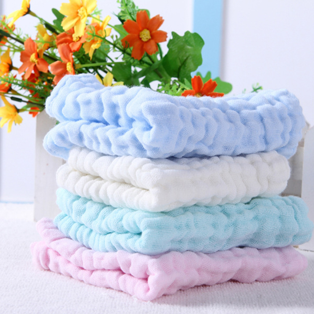 10Pcs Baby Washcloths For Sensitive Skin Washcloths Cotton Towels Gauze Square by ELENXS