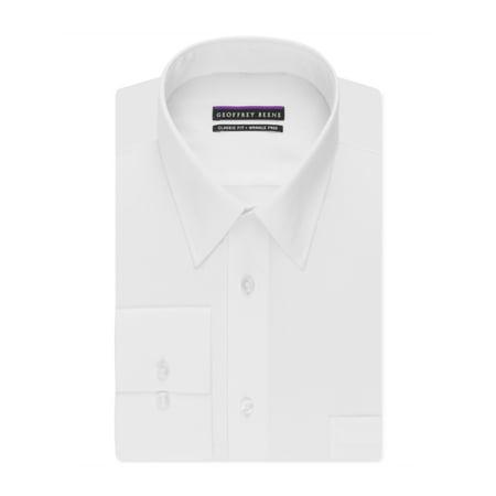 Geoffrey Beene Mens Classic Button Up Dress Shirt - Geoffrey Beene Wrinkle Free Dress Shirt