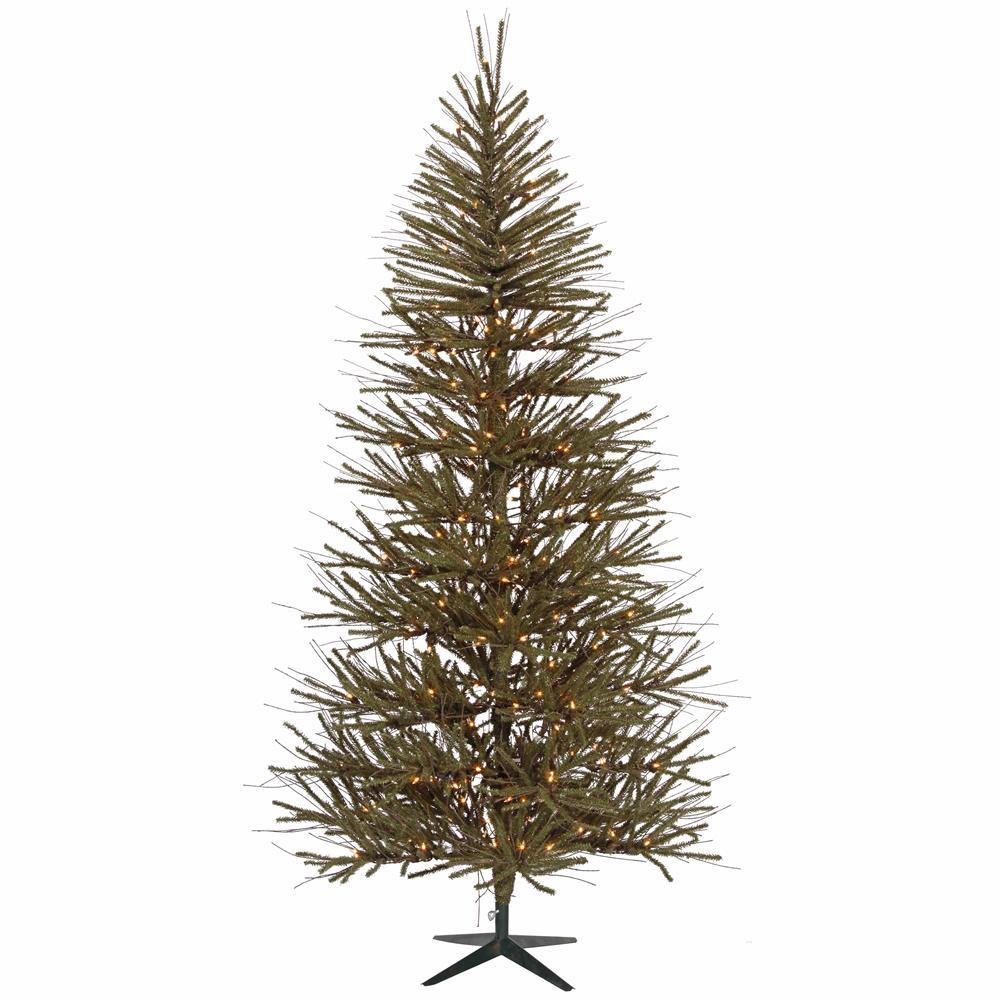 7' Pre-Lit Slim Vienna Twig Artificial Christmas Tree - C...