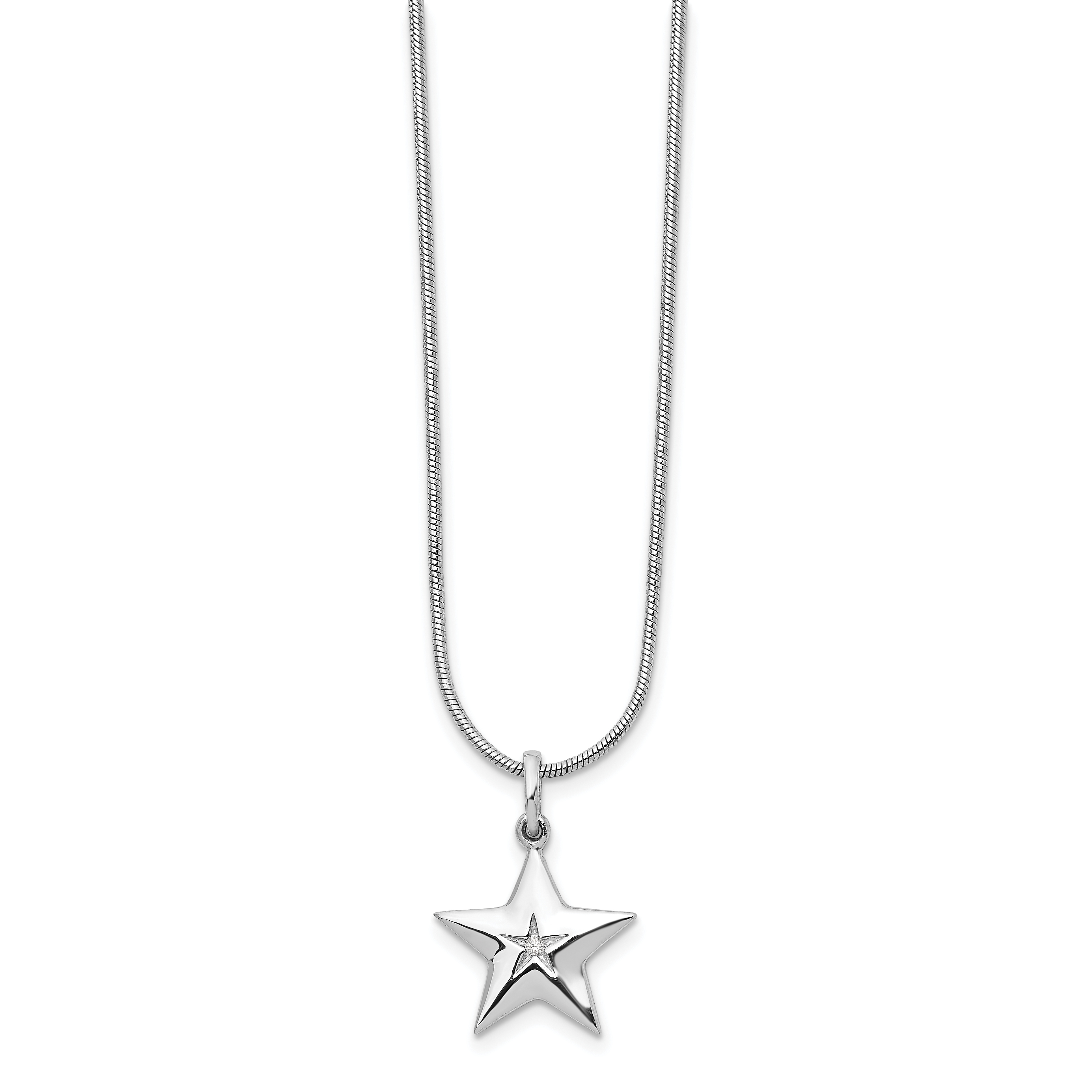 925 Sterling Silver Diamond Star Chain Necklace Pendant Charm Sun Moon Fine Jewelry Gifts For Women For Her - image 8 de 8