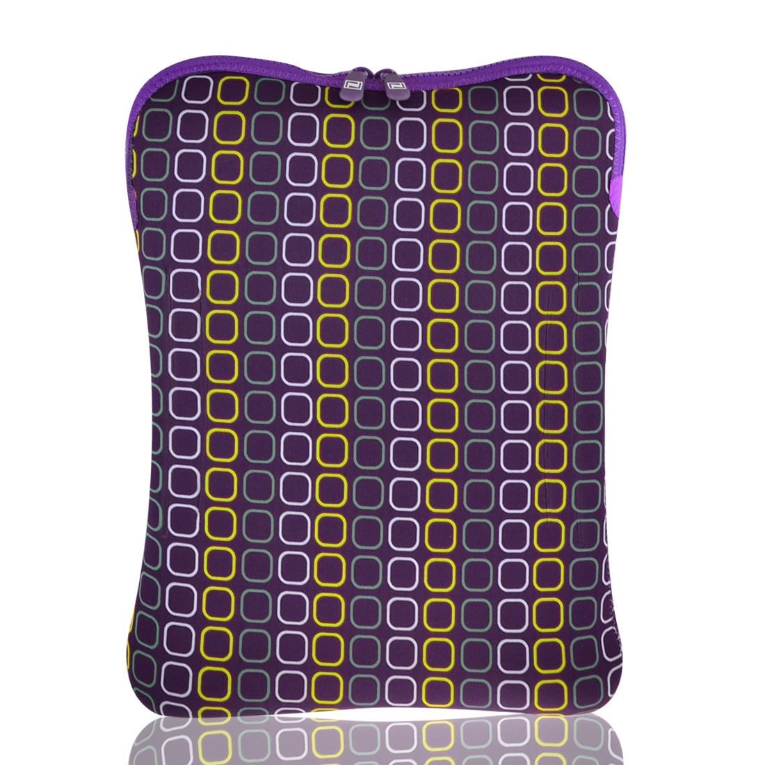 "13"" 13.3"" Purple Square Pattern Notebook Laptop Sleeve Bag Case"