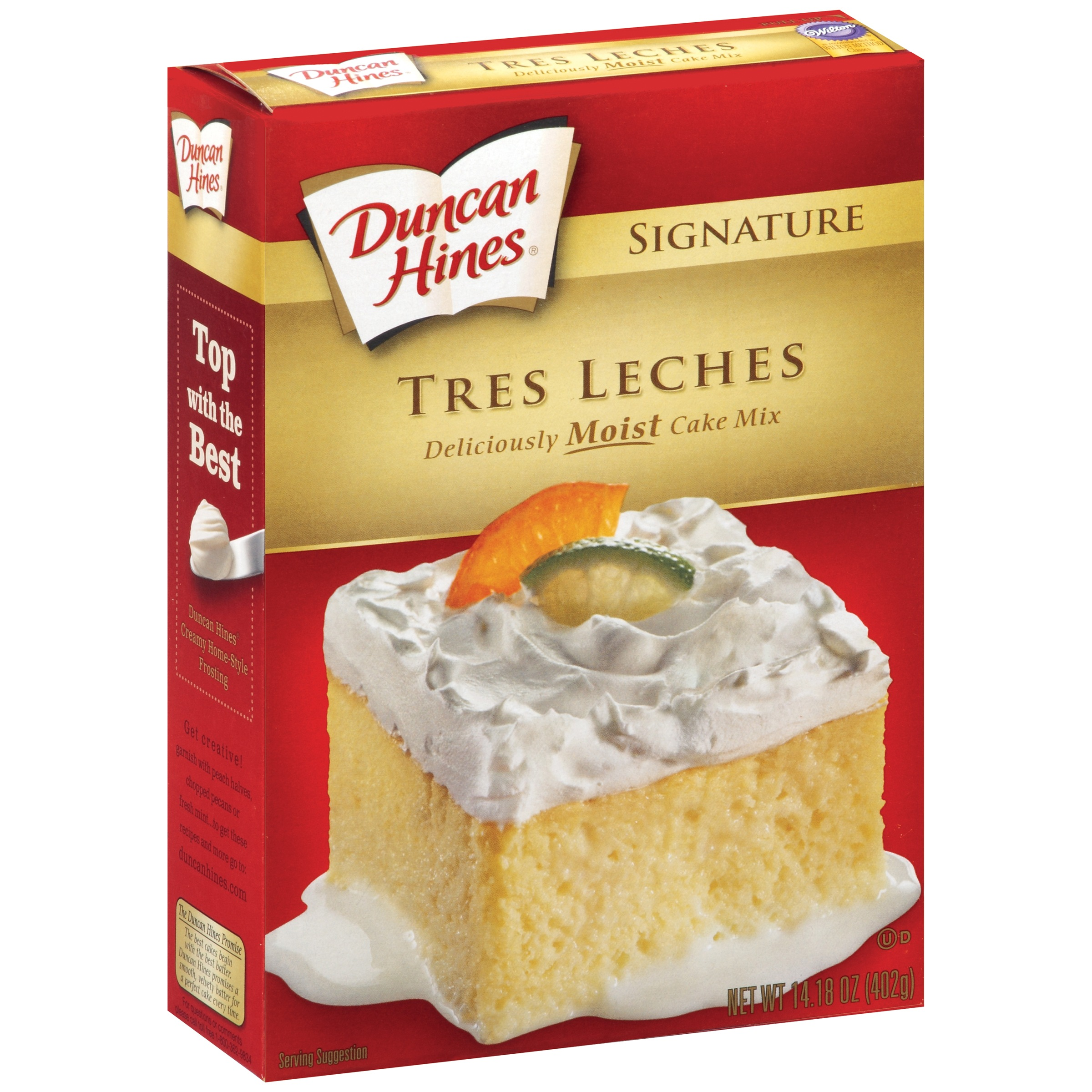 (2 pack) Duncan Hines Signature Tres Leches Cake Mix, 14.18 oz